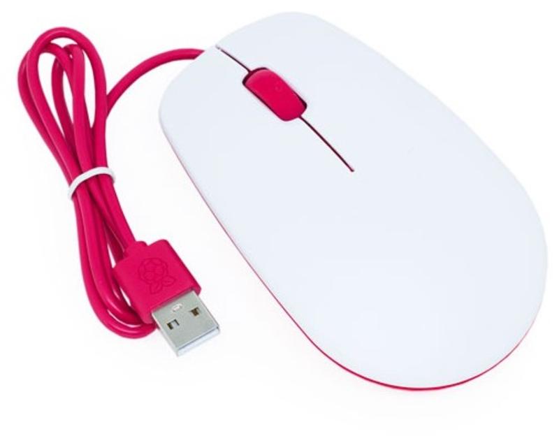 Raspberry - Rato Raspberry Pi Branco/Vermelho