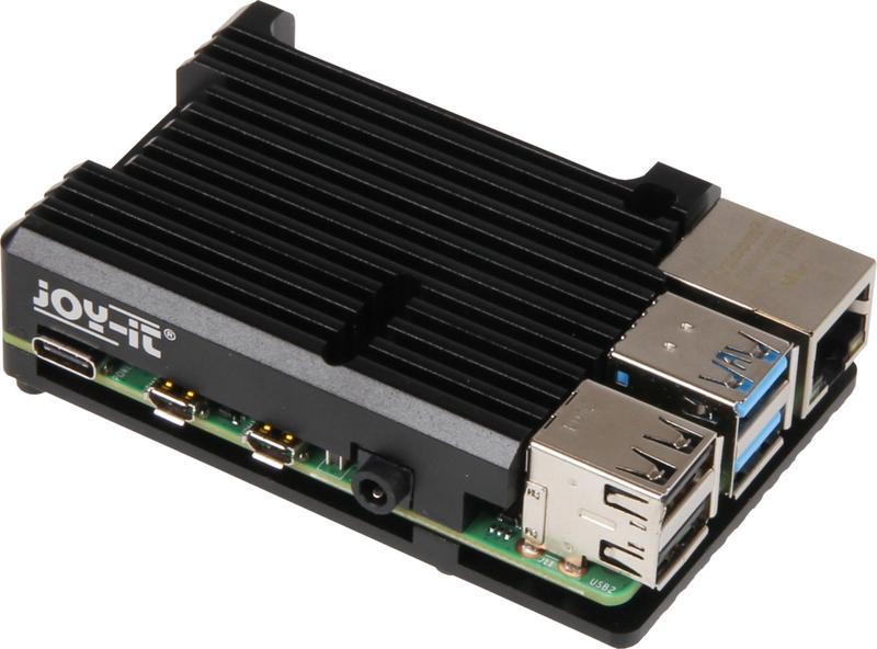 Raspberry - Caixa Joy-iT Block para Raspberry Pi 4 Alumínio Passivo Preto