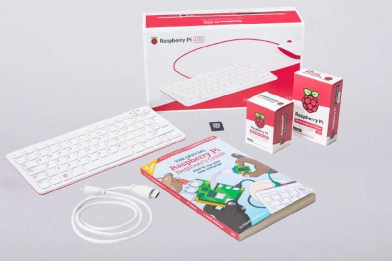 Kit PC Raspberry Pi 400 Kit (4 / 16GB) WiFi (PC, Rato, Cabo, Fonte)