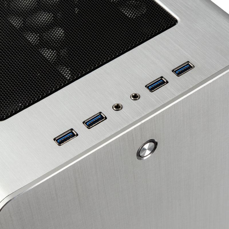 Raijintek - Caixa ATX Raijintek Asterion Classic Silver Vidro Temperado