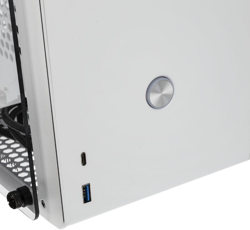 Raijintek - Caixa Mini-ITX Raijintek Ophion Branco Vidro Temperado