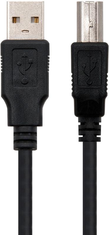 Nanocable - Cabo USB 2.0 Nanocable Tipo A/M-B/M 1.8 M Preto