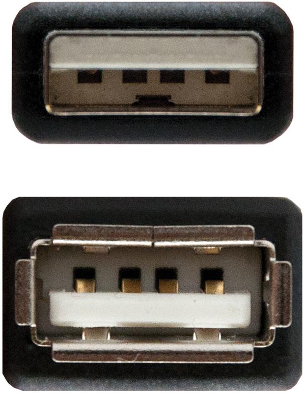 Nanocable - Cabo USB 2.0 Nanocable Tipo A/M-A/F 1 M Preto