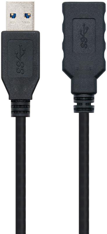 Nanocable - Cabo USB 3.0 Nanocable Tipo A/M-A/F 1 M Preto