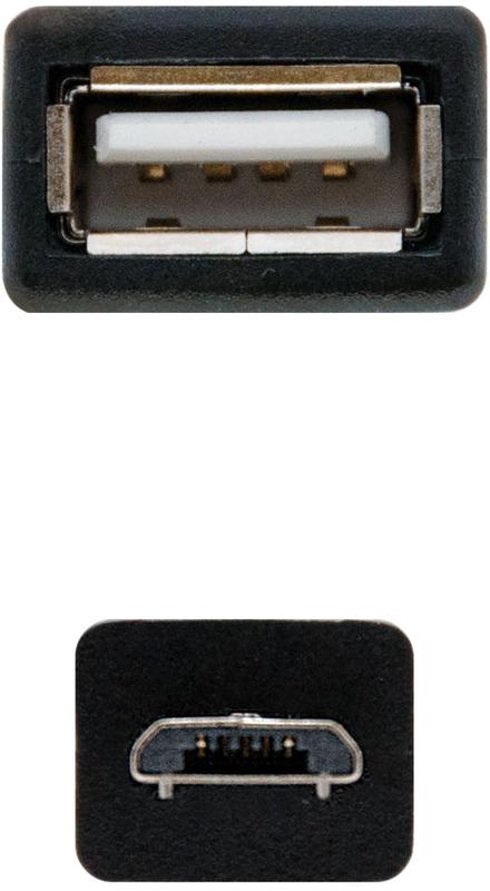 Nanocable - Cabo USB 2.0 OTG Nanocable Tipo Micro B/M-A/F 15 CM Preto