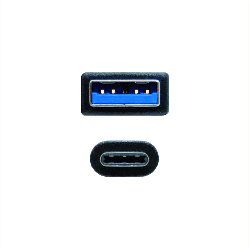 Nanocable - Cabo USB 3.1 GEN2 10Gbps 3A Nanocable Tipo USB-C/M-A/M 1.5 M Preto