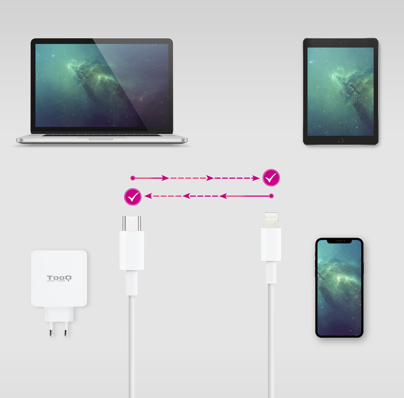 Nanocable - Cabo Lightning Nanocable Tipo Lightning-USB C A/M 2 M
