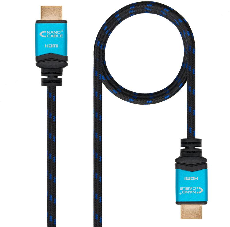 Cabo HDMI V2.0 4K@60Hz 18Gbps Nanocable A/M-A/M 1 M Preto