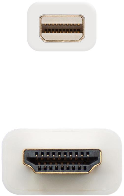Nanocable - Cabo Conversor Nanocable Mini Displayport Macho > HDMI Macho 5 M Branco