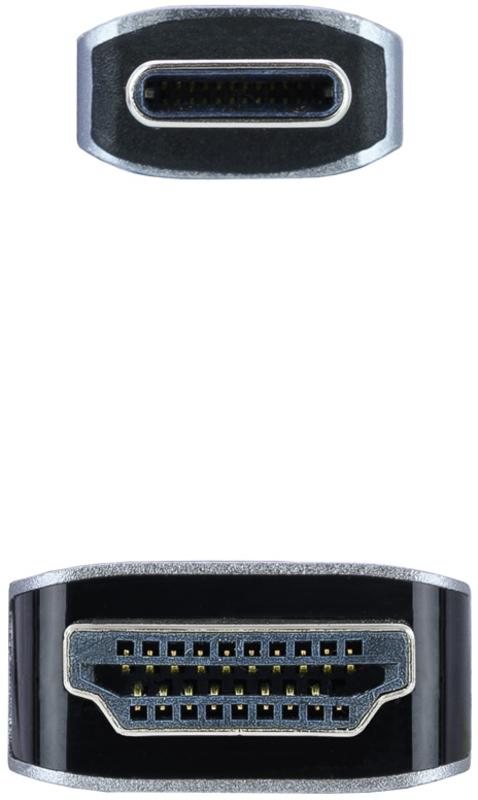 Nanocable - Cabo Conversor Nanocable USB-C Macho > HDMI Macho 1.8 M Preto
