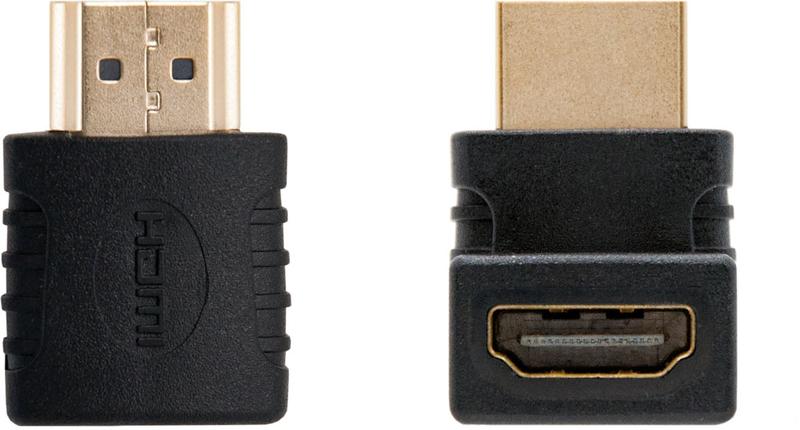 Adaptador HDMI Angular Nanocable A/F-A/M Preto