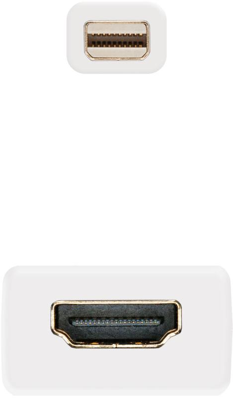 Nanocable - Conversor Nanocable Mini Displayport Macho > HDMI Femea 15 CM Branco
