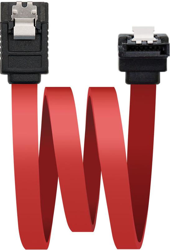 Cabo SATA III Angular Nanocable 50 CM Vermelho