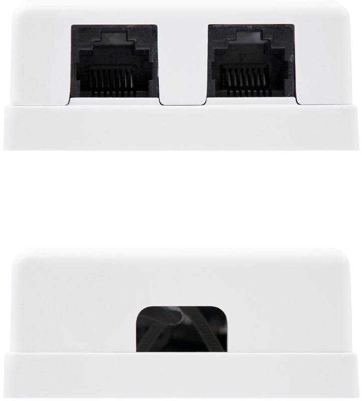 Nanocable - Tomada de Superfície Nanocable 2x RJ45 CAT.6 UTP Branco