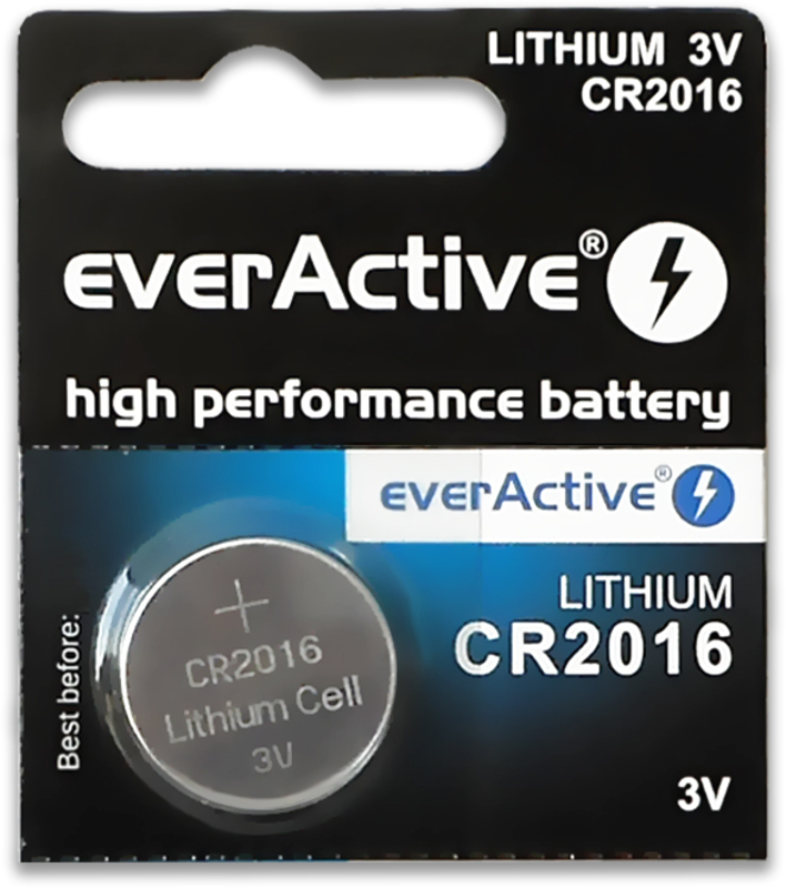 everActive - Pilhas everActive Lithium CR2016 3V