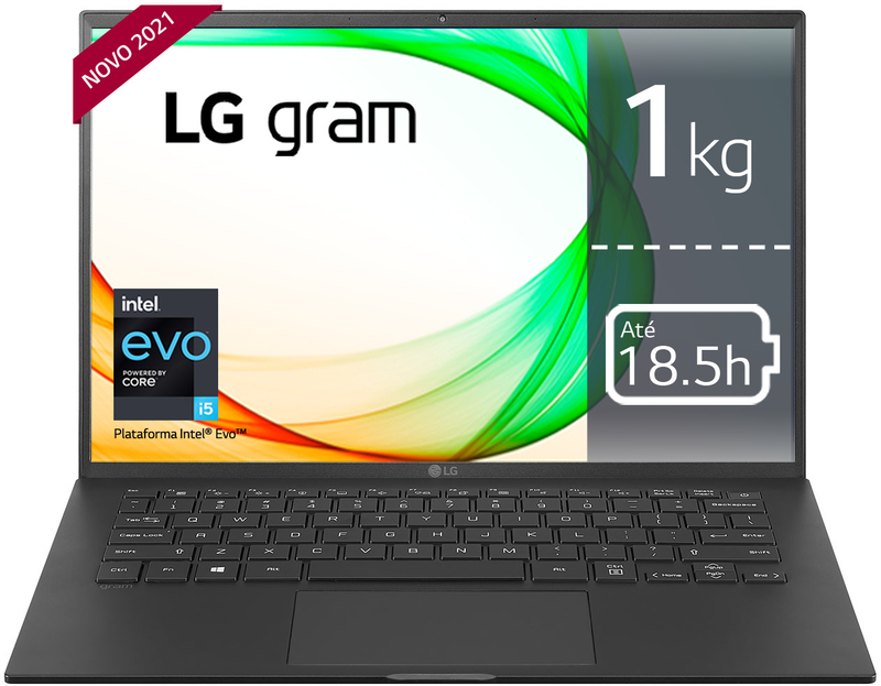 "Portátil LG gram 14"" 14Z90P i5 16GB 512GB W10 Pro"