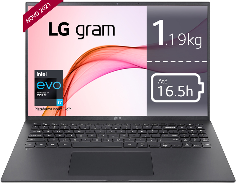 "Portátil LG gram 16"" 16Z90P i7 16GB 512GB W10"