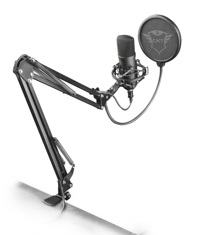 Microfone Trust Gaming GXT 252+ Suporte Emita Plus Streaming USB