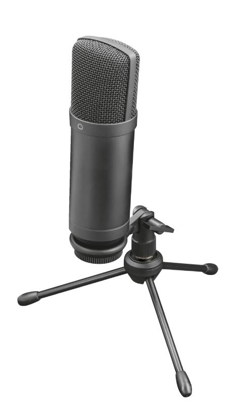 Trust - Microfone Trust Gaming GXT 252+ Suporte Emita Plus Streaming USB