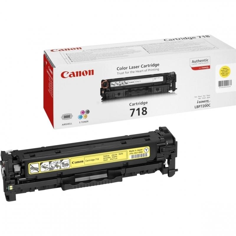Toner Canon 718 Amarelo