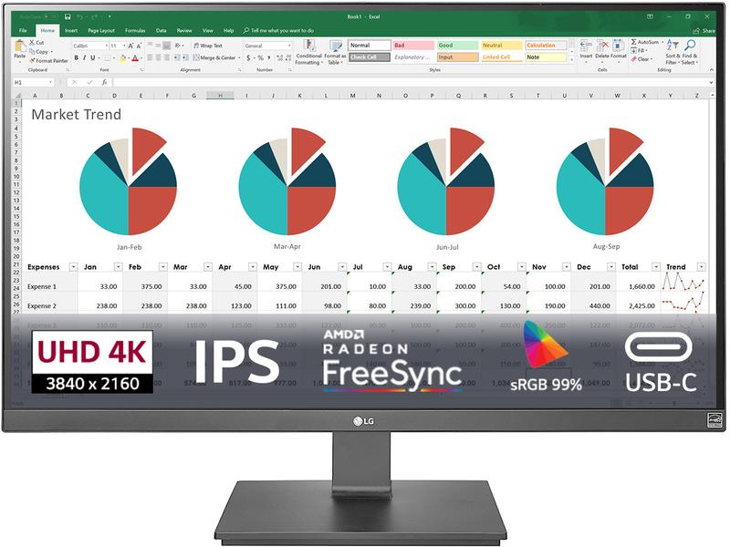 """Monitor LG 27"""" 27UK670-B 4K UHD FreeSync 60Hz 5ms"""