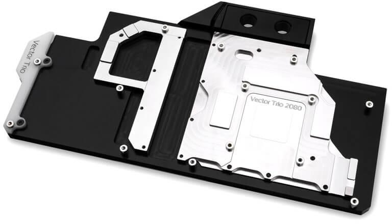 EKWB - Bloco VGA EK-Vector Trio RTX 2080 RGB - Niquel + Acetal