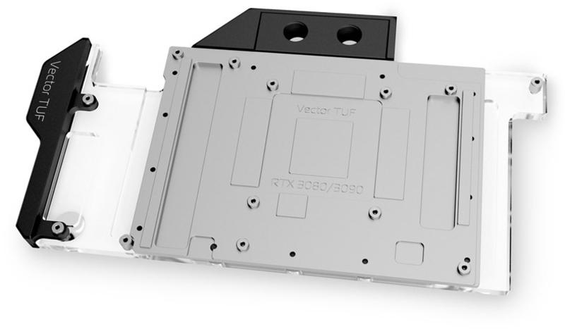 EKWB - Bloco VGA EKWB EK-Quantum Vector TUF RTX 3080/3090 D-RGB - Níquel + Acrílico