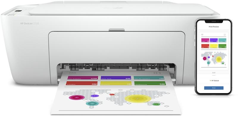 Impressora Jato de Tinta HP DeskJet 2720 All-In-One WiFi