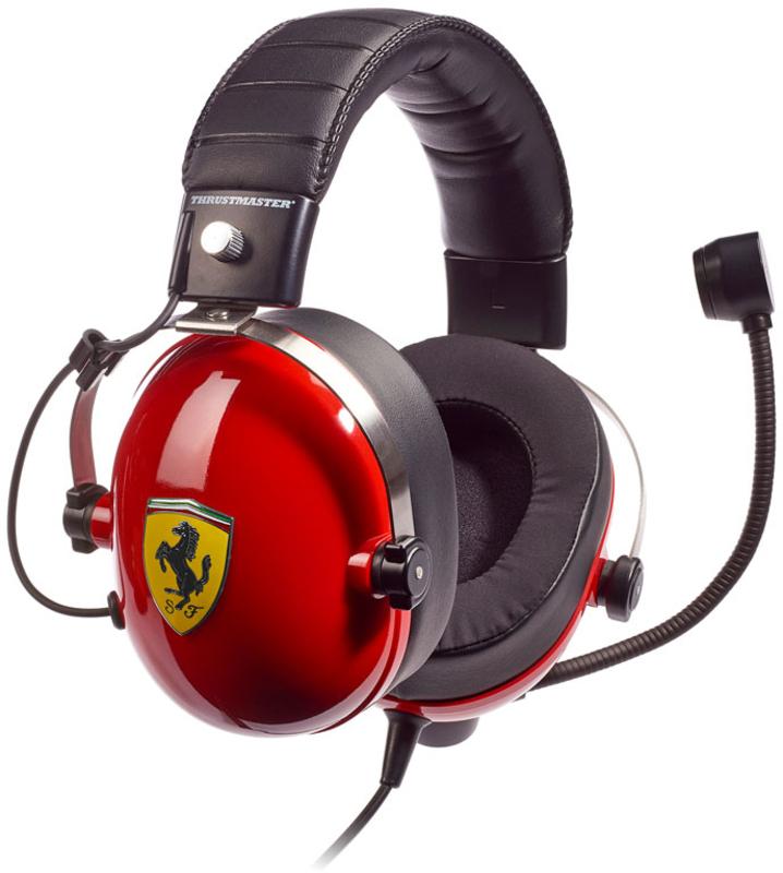 Thrustmaster - Auscultadores Thrustmaster T.Racing Scuderia Ferrari DTS Edition - PS4 / PC / XONE