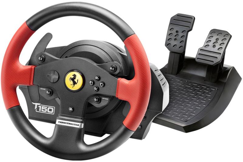 Thrustmaster - Volante + Pedais Thrustmaster T150 Ferrari Edition - PS4 / PS3 / PC