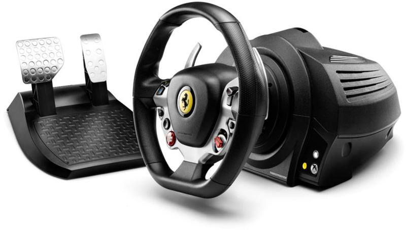 Thrustmaster - Volante + Pedais Thrustmaster TX Ferrari 458 Italia Edition - Xbox One / PC