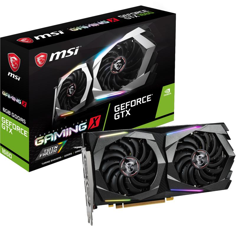 Gráfica MSI GeForce® GTX 1660 GAMING X 6G