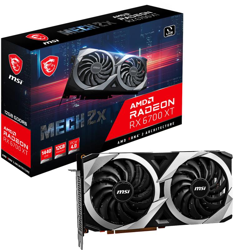 Gráfica MSI Radeon RX 6700 XT MECH 2X 12G