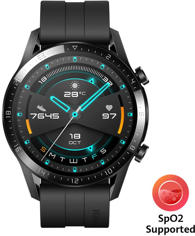 Smartwatch Huawei Watch GT 2 46mm Sport Preto