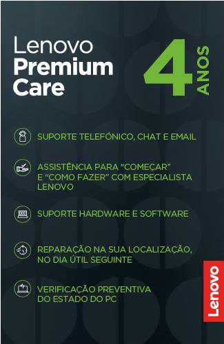Serviço Suporte Lenovo Premium Care 4 anos