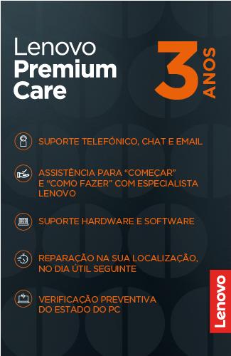 Serviço Suporte Lenovo Premium Care 3 anos