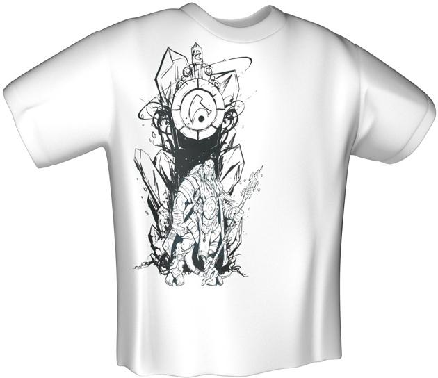 T-Shirt Jinx World of Warcraft Draenei Race T-Shirt Branca (L)