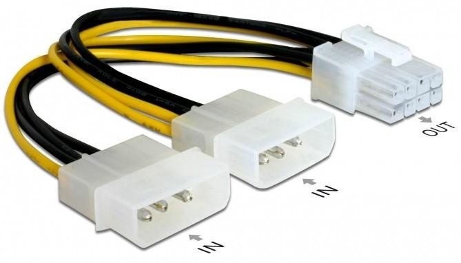 Cabo Adaptador 2 x Molex > 8-Pin PCIe