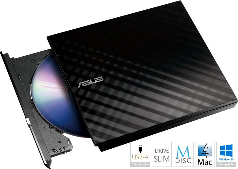 Drive Externa DVD±R Asus SDRW-08D2S-U Lite 8x Preto USB 2.0