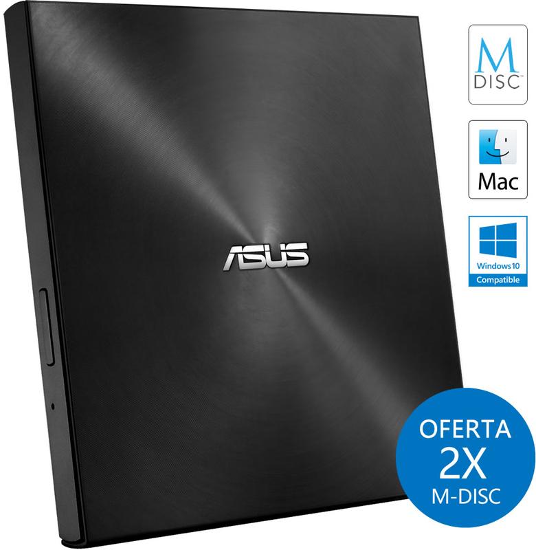 Drive Externa ASUS ZenDrive U7M Ultra-Slim M-Disc Preto