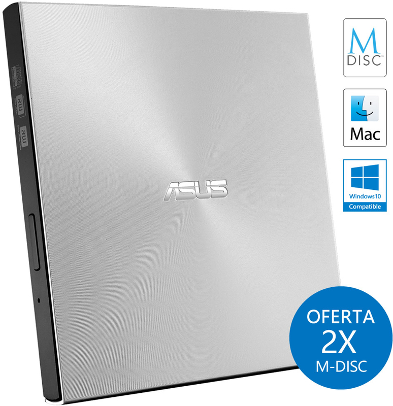 Drive Externa ASUS ZenDrive U7M Ultra-Slim M-Disc Prateado
