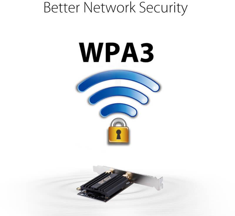 Asus - Placa de Rede Asus PCE-AX58BT Wireless AX3000 WiFi 6 PCIe