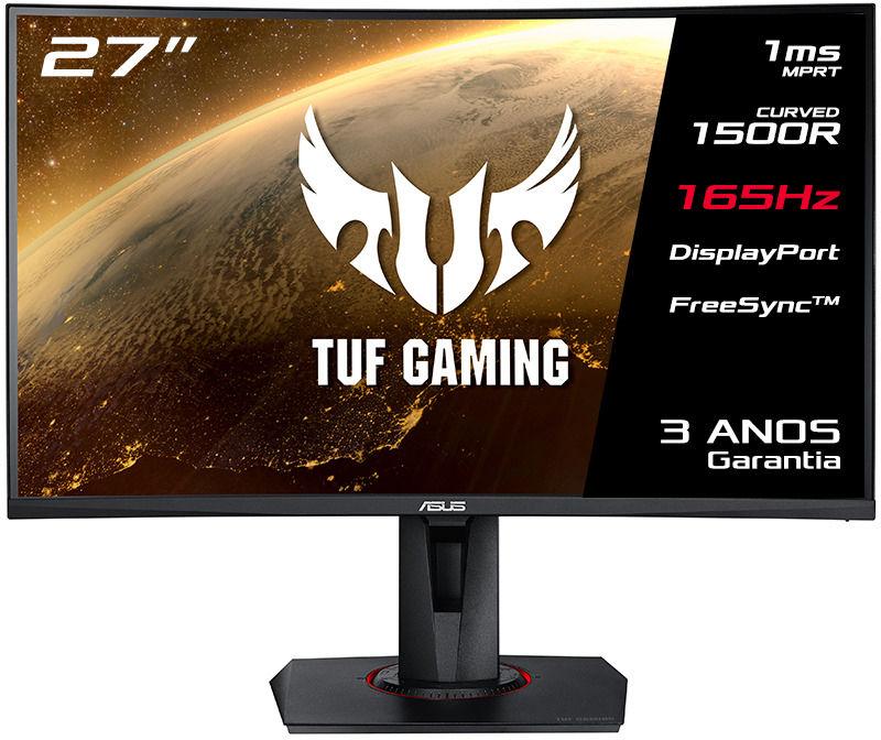 "Asus - Monitor Asus 27"" VG27VQ  Curvo FHD 165Hz FreeSync 1ms"