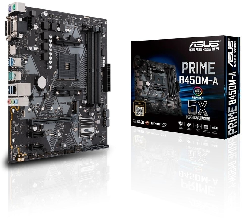 Asus - ** B Grade ** Motherboard Asus PRIME B450M-A