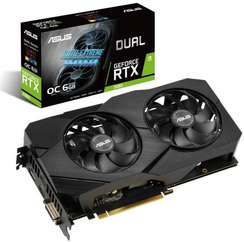 Asus - Gráfica Asus GeForce® RTX 2060 Dual Evo OC 6GB GD6