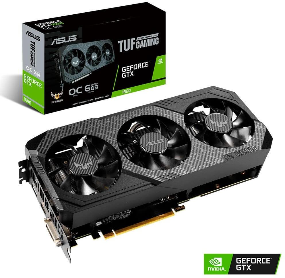 Gráfica Asus GeForce® GTX 1660 TUF Gaming X3 OC 6GB