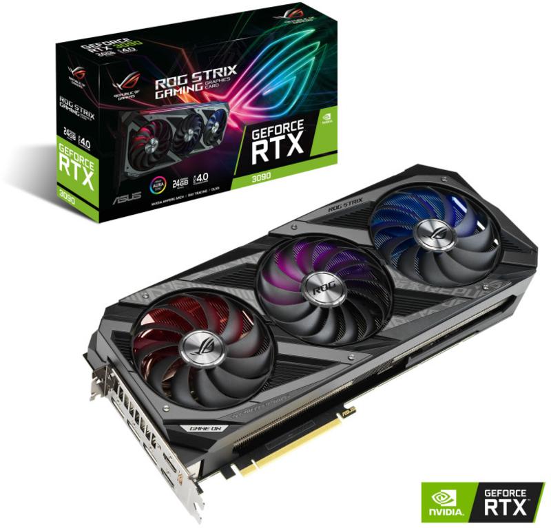Asus - Gráfica Asus GeForce® RTX 3090 ROG Strix 24GD6X