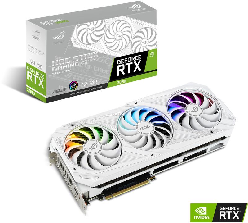 Gráfica Asus GeForce® RTX 3080 ROG Strix White 10GD6X