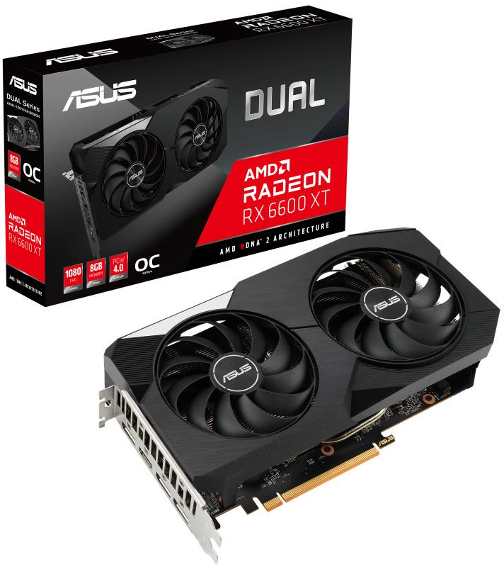 Gráfica Asus Radeon RX 6600 XT Dual OC 8GB