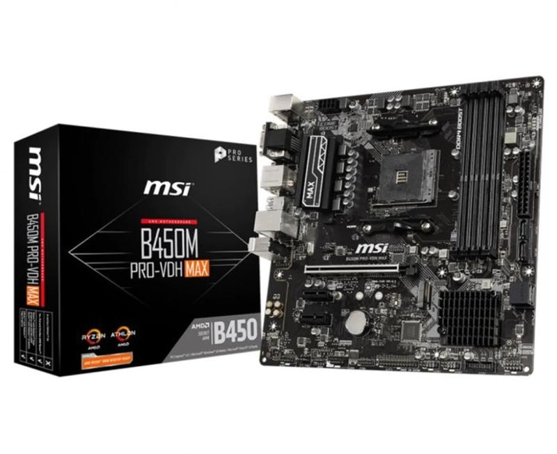 MSI - ** B Grade ** Motherboard MSI B450M PRO-VDH MAX